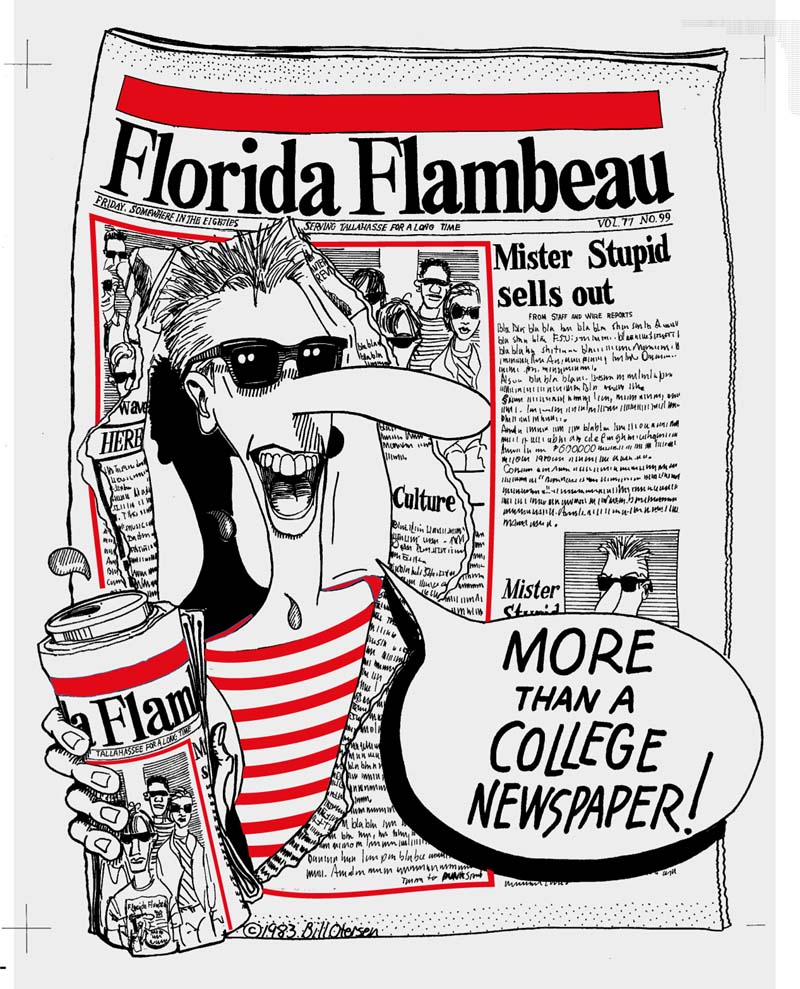 Florida Flambeau Tee design featuring Mister Stupid